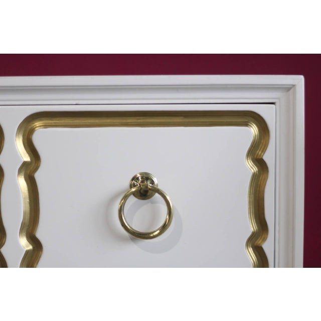 Mid 20th Century Dorothy Draper Espana Chests Lacquered in Creamy White - a Pair For Sale - Image 5 of 11
