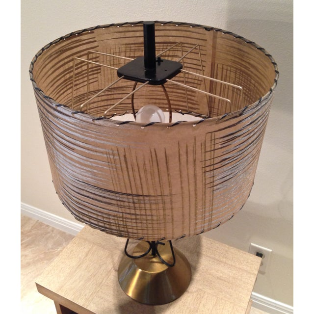 Atomic Era Wire and Brass Table Lamp - Image 5 of 7
