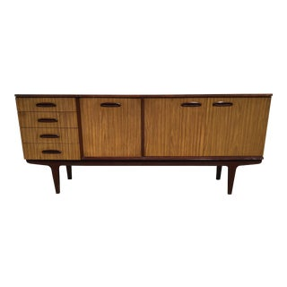 20th Century Danish Modern Drop Front Bar Cabinet Sideboard For Sale