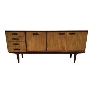 Vintage Danish Modern Drop Front Bar Cabinet Sideboard For Sale