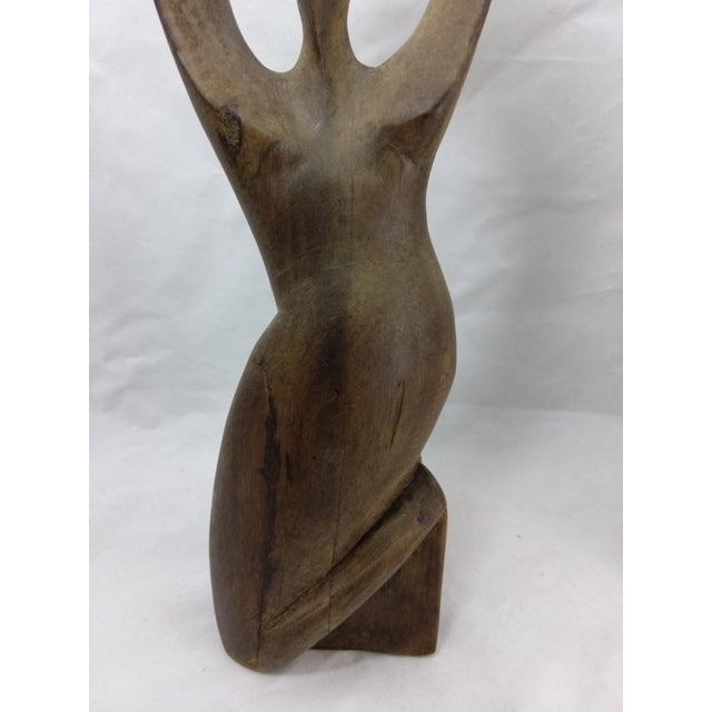 Primitive African Wood Carved Sculptures - Pair - Image 4 of 11