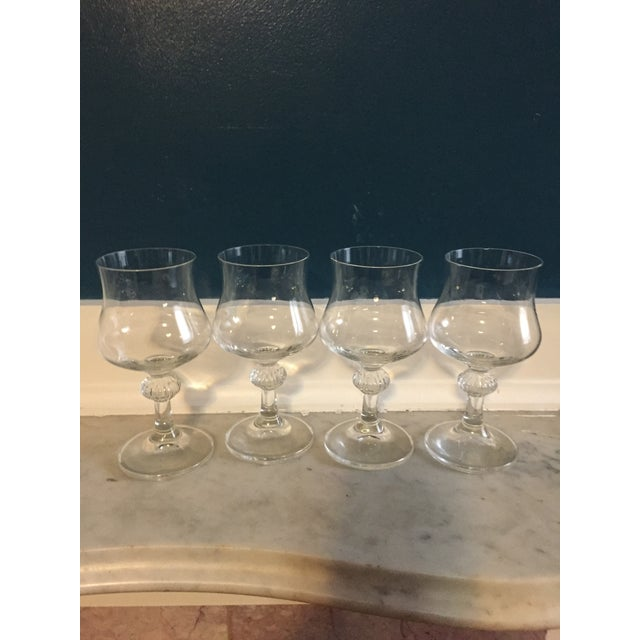 Mid-Century Crystal Wine Glasses - Set of 4 - Image 4 of 4