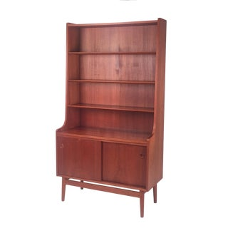 1960s Danish Modern Teak Bureau For Sale