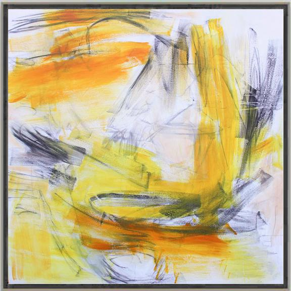 """Abstract """"Going West"""" by Trixie Pitts Large Abstract Expressionist Painting For Sale - Image 3 of 10"""