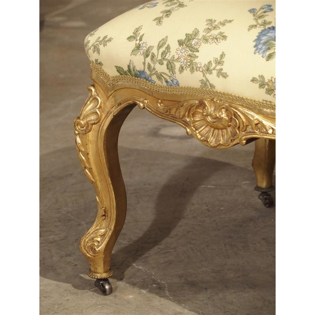 19th Century Antique Giltwood Regence Style Banquette From France, 19th Century For Sale - Image 5 of 13