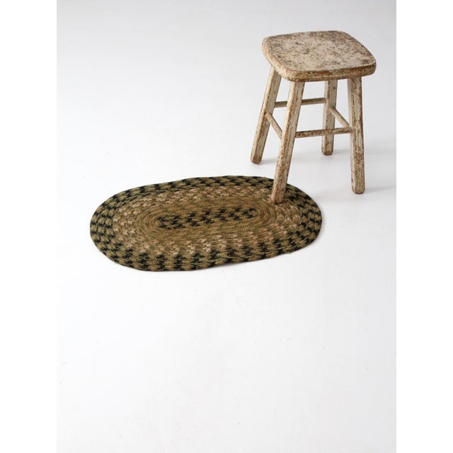 Vintage Braided Accent Rug For Sale - Image 4 of 7