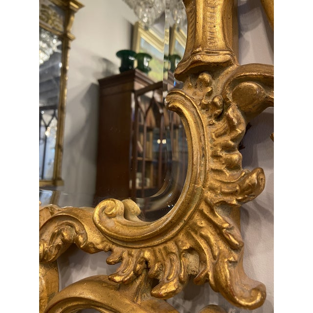 Vintage 1940s Victorian Gilt Gold Mirror For Sale In Boston - Image 6 of 7