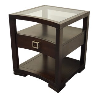 "Vanguard Furniture Michael Weiss Modernism 24"" Glass Top End Table For Sale"