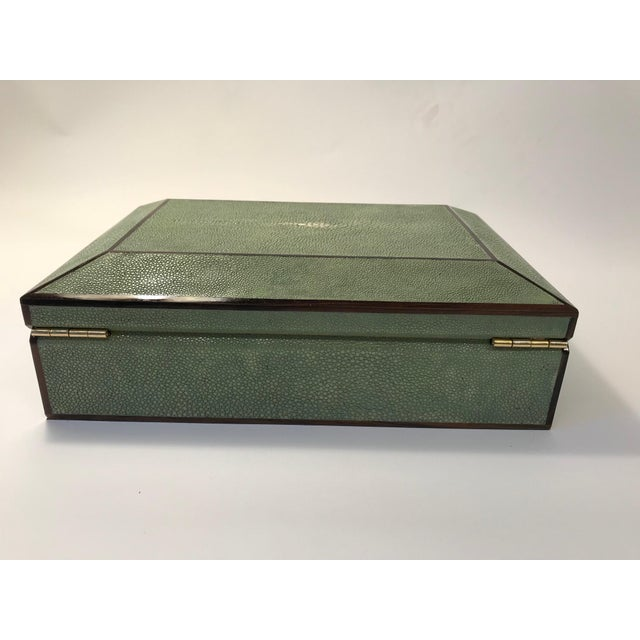 Bone Inlay & Shagreen Box For Sale In New York - Image 6 of 10