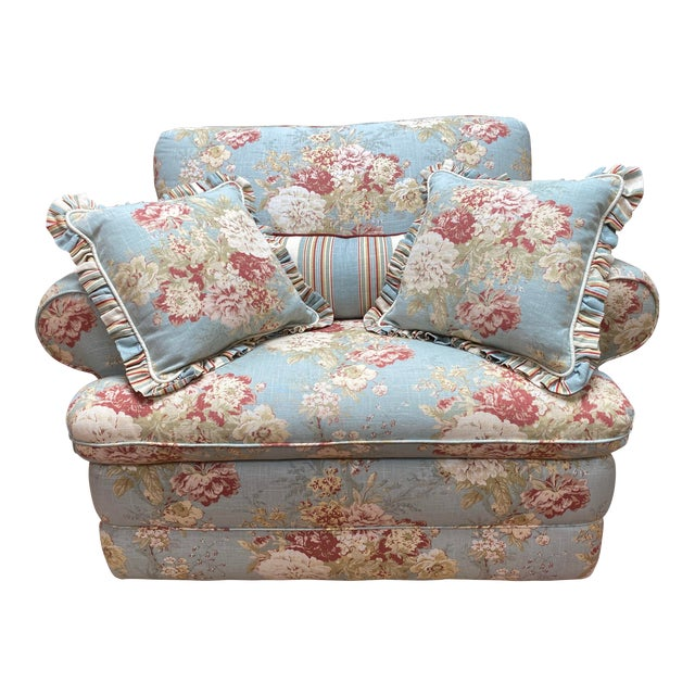 La-Z Boy Shabby Chic Arm Chair Recliner For Sale