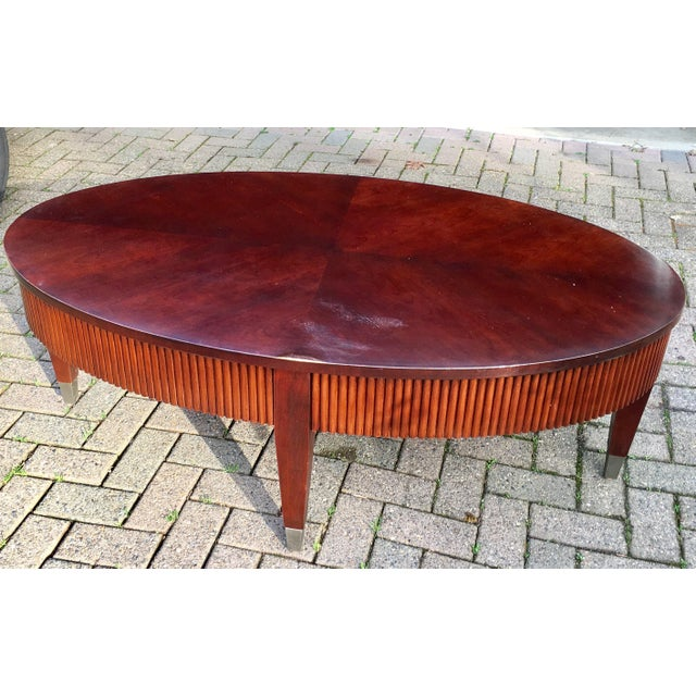 Ethan Allen Trevor Coffee Table: Ethan Allen Oval Wooden Coffee Table