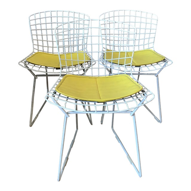 1950s Vintage Harry Bertoia Child's Chairs - Set of 3 For Sale