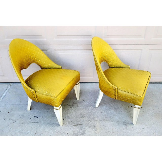 Vintage Art Deco Spoon Back Chairs - a Pair For Sale - Image 4 of 6