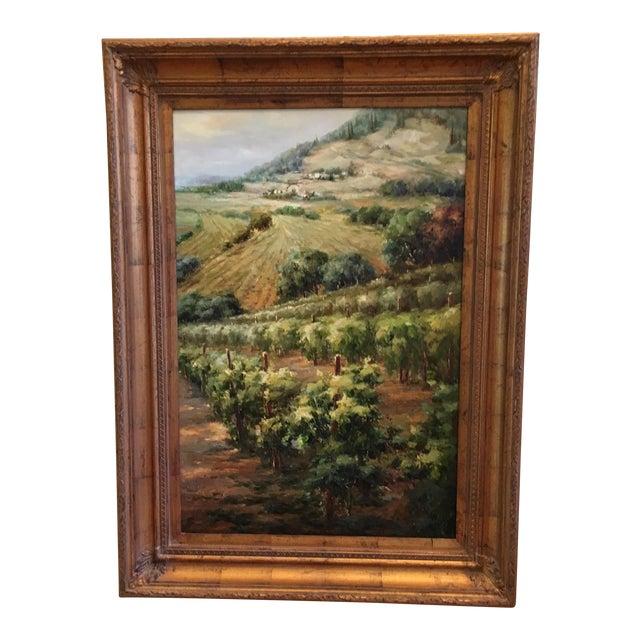 "Mayflower ""Vineyards"" Oil Painting - Image 1 of 4"