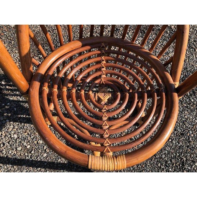 Boho Chic Rattan and Bentwood Dining Set for Two - 3 Pieces For Sale - Image 10 of 13