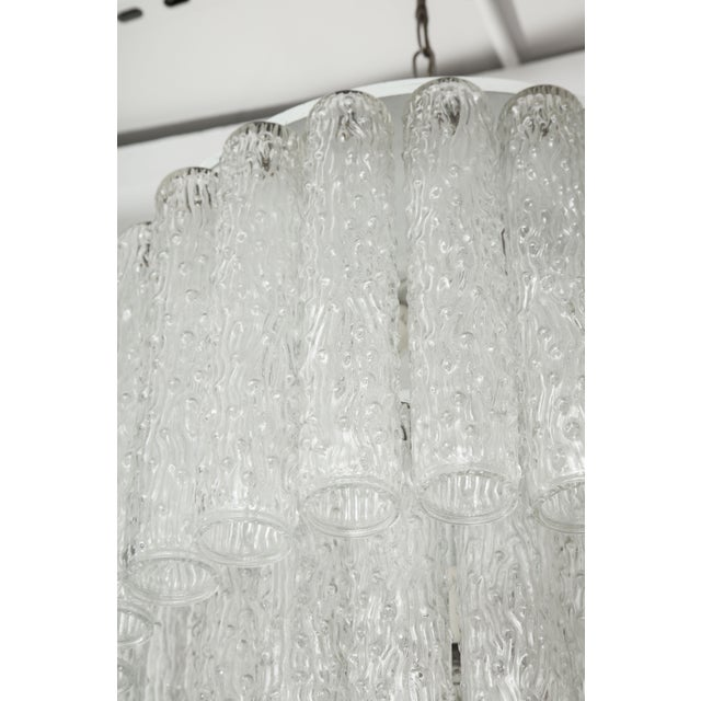 Murano Glass Tube Chandelier For Sale - Image 4 of 10