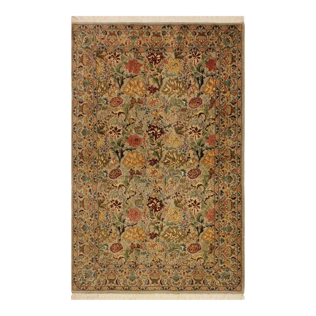 Pak-Persian Jeni Lt. Gray/Gold Wool Rug - 4'1 X 6'2 For Sale