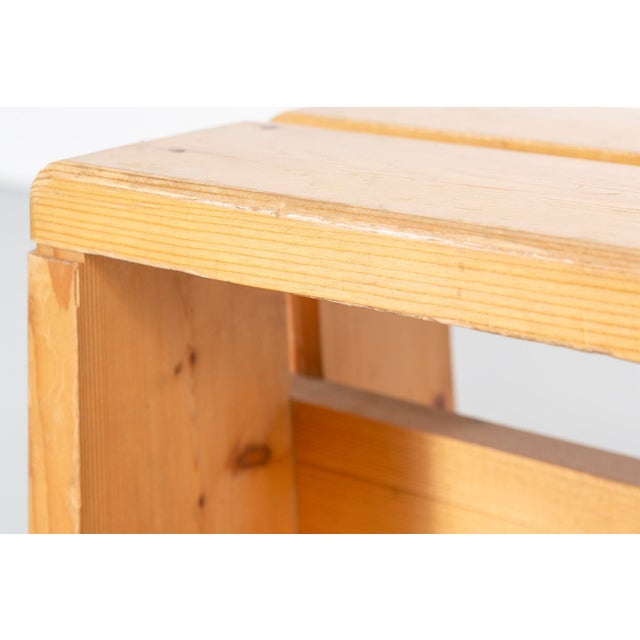 Pair of Les Arcs Pine Benches by Charlotte Perriand For Sale In Chicago - Image 6 of 13