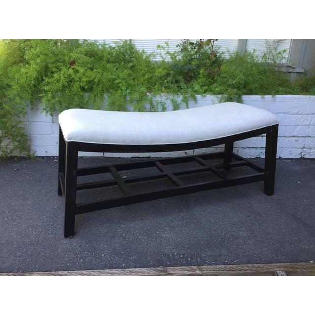 Asian Inspired Saddle Bench - Image 2 of 6