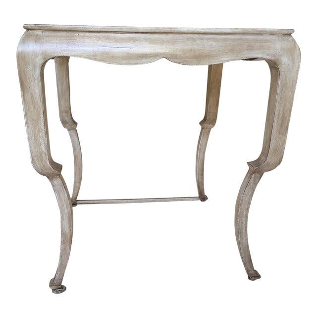 Beige Nancy Corzine Wood Side Table For Sale