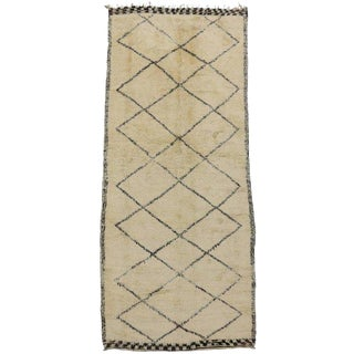 "20th Century Boho Chic Beni Ourain Rug - 6'4"" X 14'3"" For Sale"