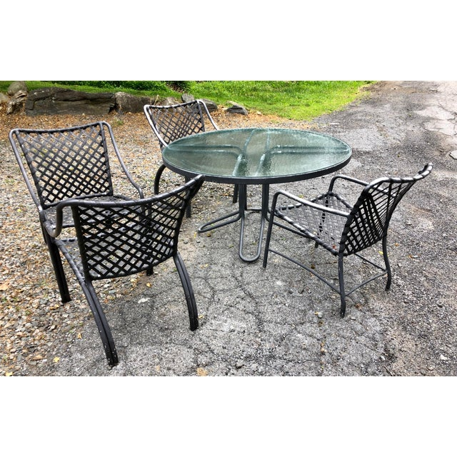 Mid 20th Century Vintage Mid Century Modern Brown Jordan Dining Set For Sale - Image 5 of 12