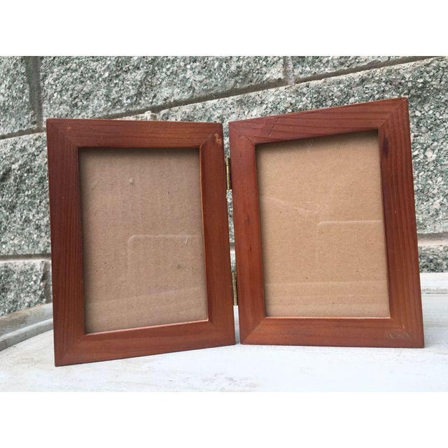Rustic Wood Double Picture Frame - Image 3 of 4