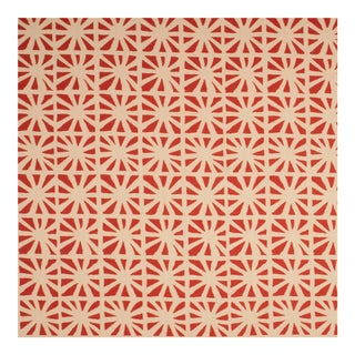 Sample - Justina Blakeney Monterey Printed Cotton and Linen Fabric, Hibiscus For Sale