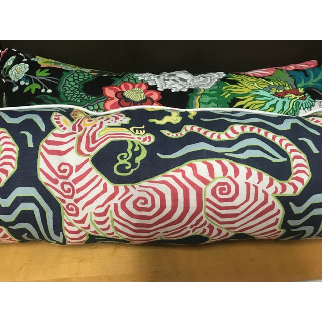 Contemporary Custom Clarence House Tibet Tiger Pillow For Sale - Image 3 of 7
