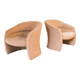 1980s Vintage Biomorphic Sculptural Armchairs by Jack Cartwright - a Pair For Sale