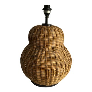 Large Round Wicker Lamp