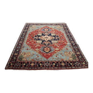 Handwoven Serapi Oriental Room Size Rug-Fine Condition For Sale