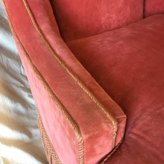 Councill Furniture Councill Craftsmen Red Chair For Sale - Image 4 of 7