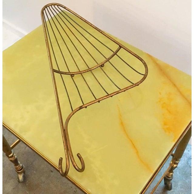 Mid Century Modern Aldo Tura Bronze Bread / Fruit Decorative Table Basket / Tray (Epergnes) - Image 3 of 11