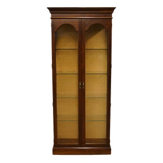 20th Century Traditional Phillip Reinisch Co. Illuminated Display Curio Cabinet For Sale