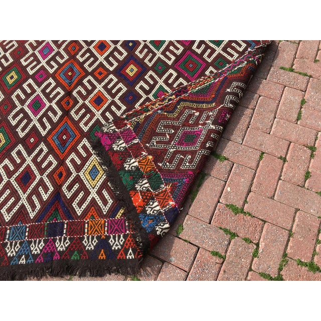 Vintage Turkish Kilim Rug- 7′1″ × 9′10″ - Image 10 of 10