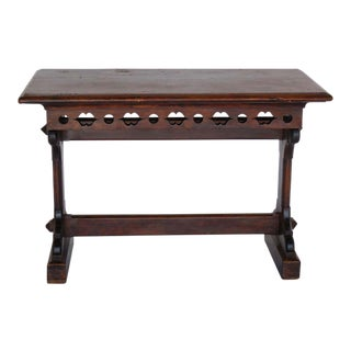 19th Century Gothic Revival Altar Table For Sale