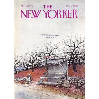 Vintage 1978 New Yorker Cover, November 6 (Arthur Getz), Fall, Country Life For Sale