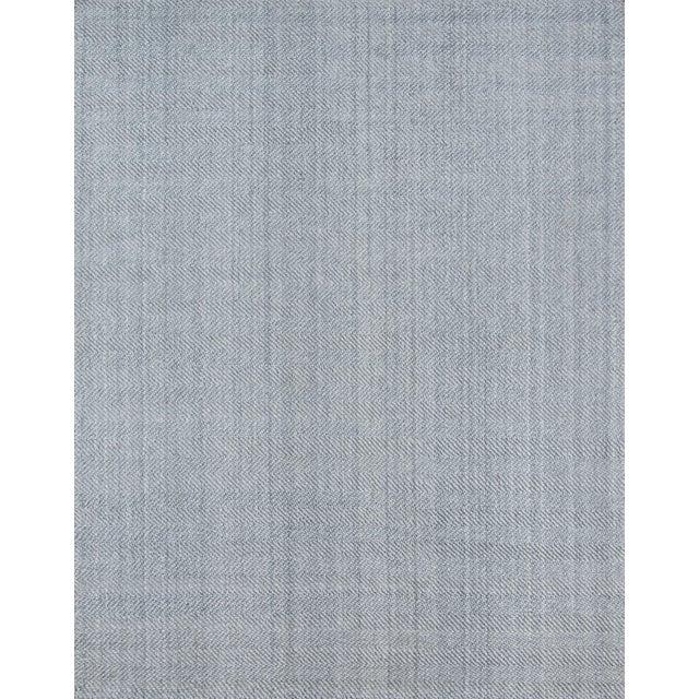 "Fabric Erin Gates by Momeni Ledgebrook Washington Grey Runner Hand Woven Area Rug - 2'3"" X 8' For Sale - Image 7 of 7"