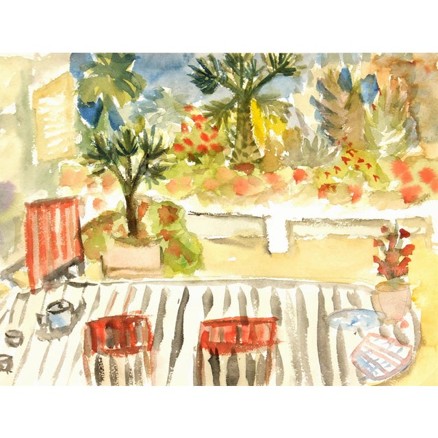 Vintage Watercolor Painting, C. 1960 - Image 1 of 3