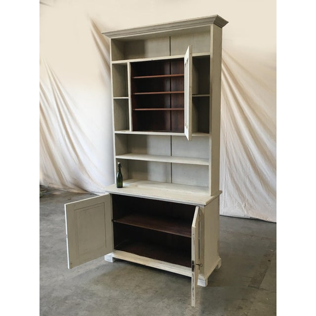 Swedish Antique Wall Bookcase Cabinet For Sale In Austin - Image 6 of 8
