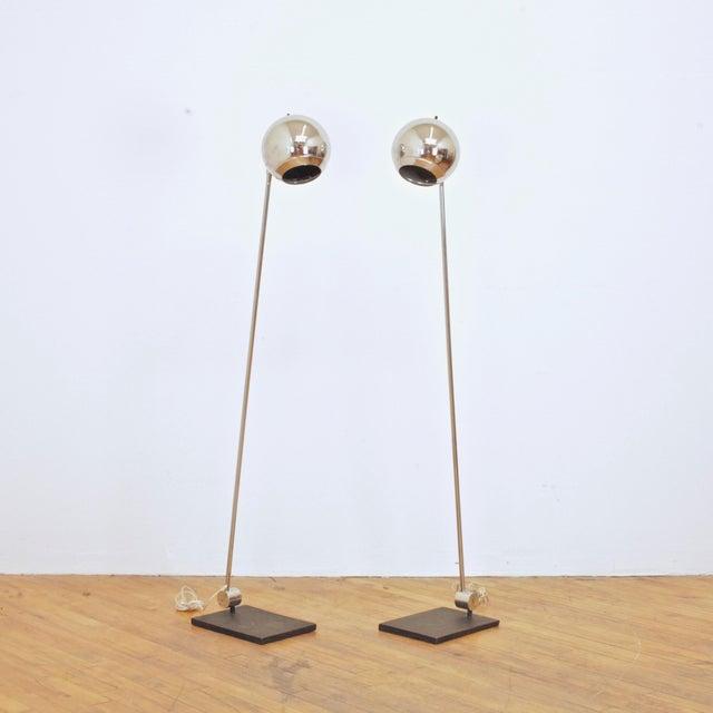 Mid-Century Modern 1970s Robert Sonneman Orb Floor Lamp For Sale - Image 3 of 9