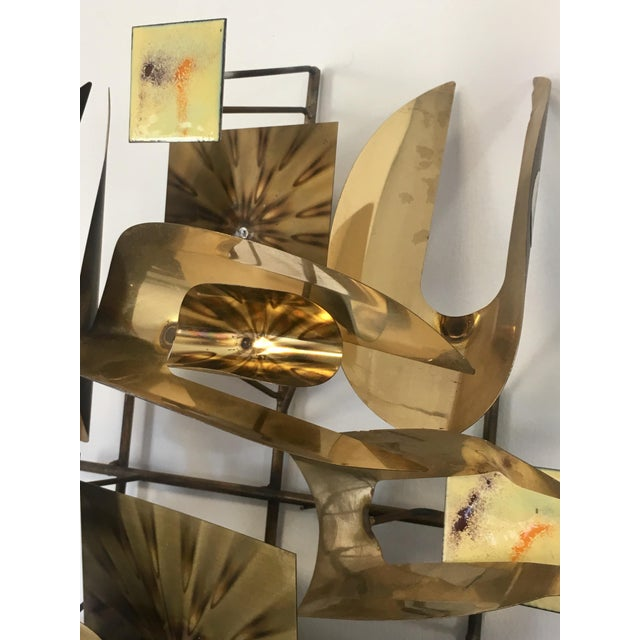 William Vose Mid-Century Brass Wall Art Sculpture For Sale - Image 9 of 12