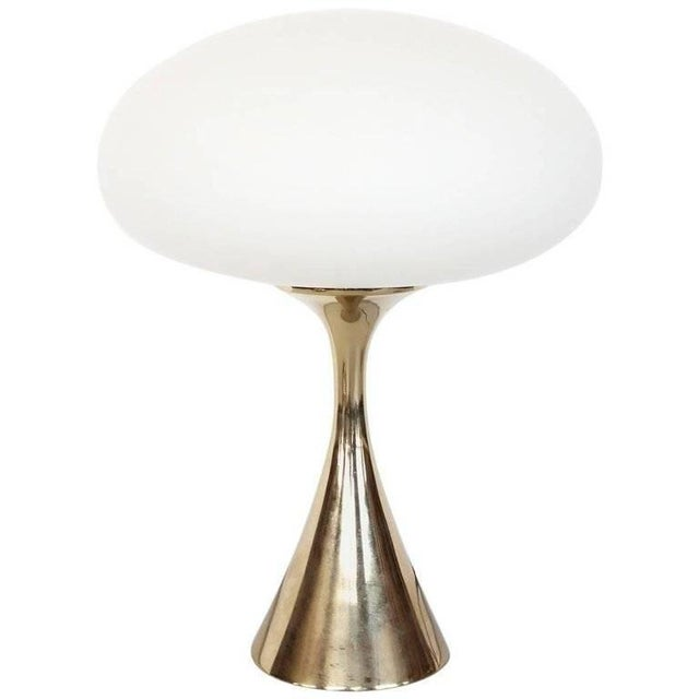Mid-Century Modern Bill Curry for Laurel Mid-Century Mushroom Brass Lamp For Sale - Image 3 of 4
