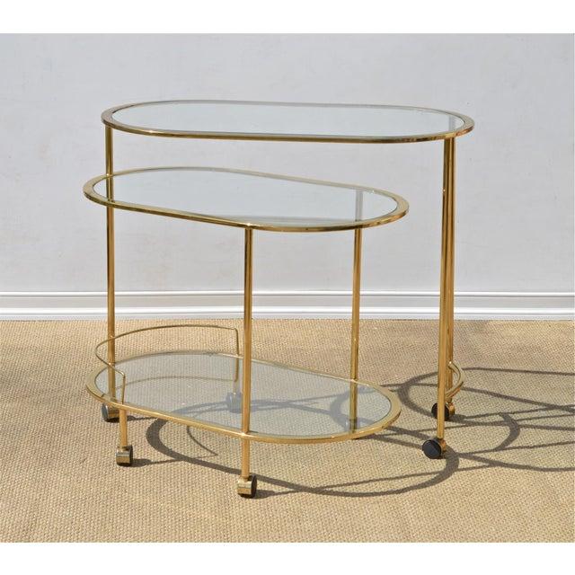 Brass & Glass Bar Cart - Image 3 of 9