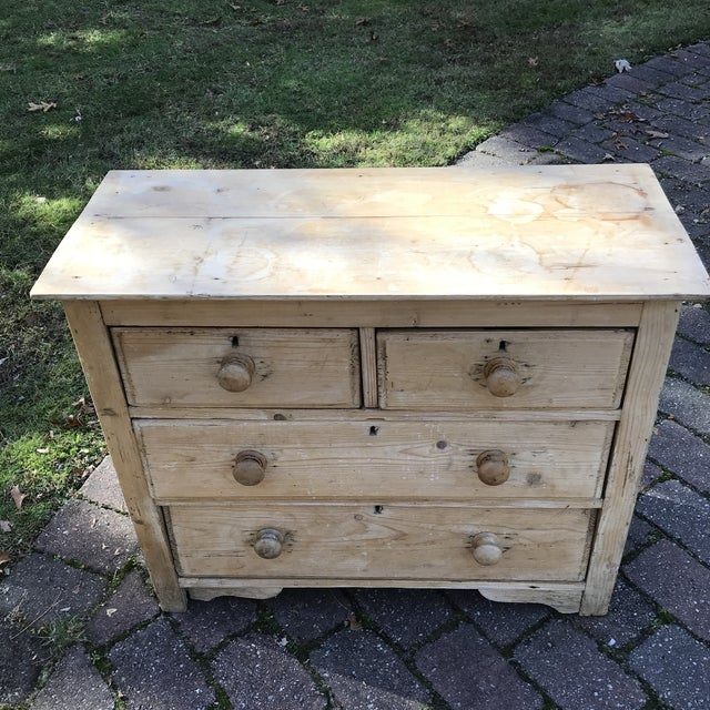 Late 19th Century 19th Century English Pine Commode For Sale - Image 5 of 8