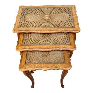 Louis XV Oak Nesting Tables - Set of 3 For Sale