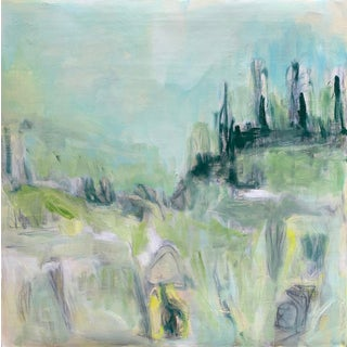 """""""Mountain Salsify"""" by Trixie Pitts Abstract Expressionist Landscape Painting For Sale"""