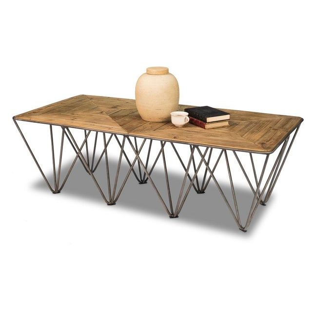 Estimated Retail Price: $1,122.00. We used bleached pine boards and fashioned triangles in this nicely crafted tabletop....