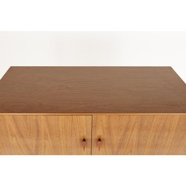 Wood Albert Parvin Style Mid Century Walnut Highboy Dresser For Sale - Image 7 of 12